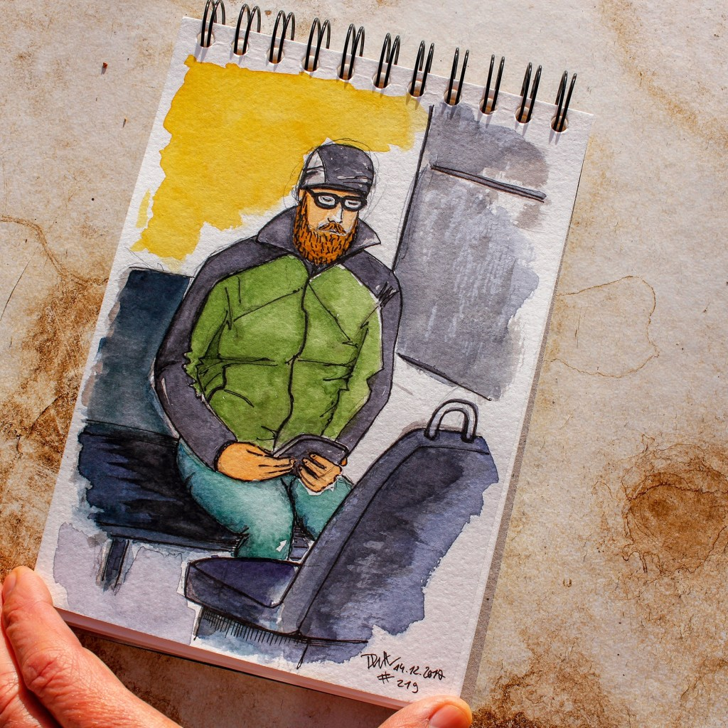 Met this guy on the train again, he was thrilled I had a sketched him. I sent him a picture of the s