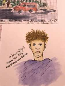 #JanuaryDayThree Good Hair Day I know he looks odd. It's my first ever face of any kind. 🙂 AAC6