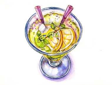 #WorldWatercolorGroup - Day 18 - Fizzy Drink - Doodlewash