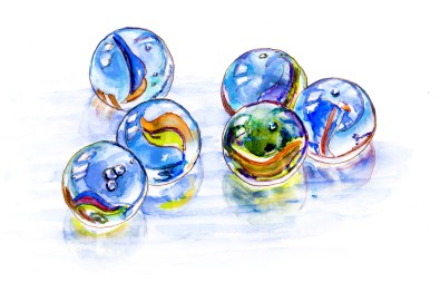 #WorldWatercolorGroup - Day 7 - Losing My Marbles - Doodlewash