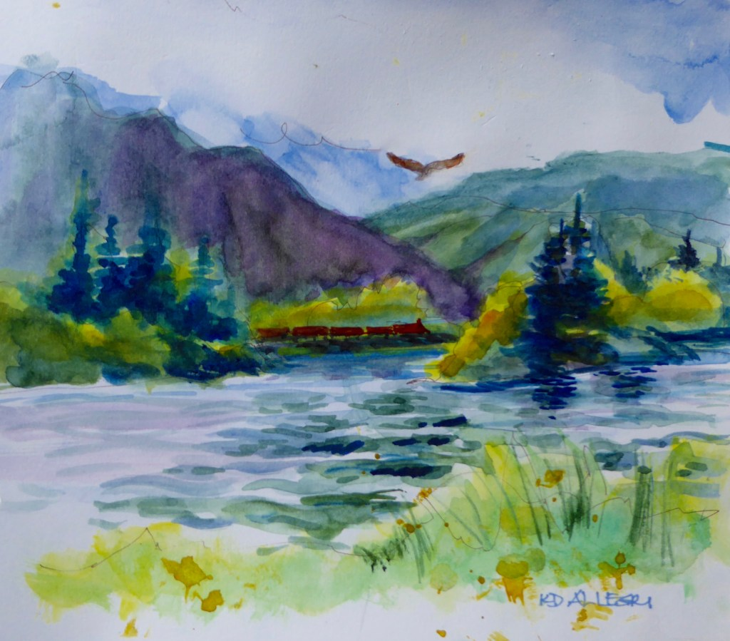 These are a few of my more recent plein air paintings that I did the past couple of springs and summ