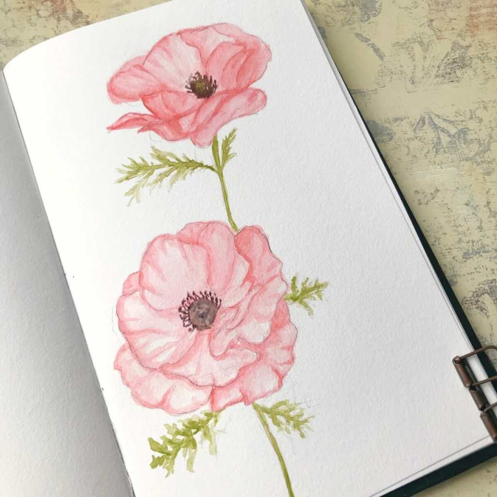 Day 7. I had to research what are included as wildflowers. 😂 This was supposed to be red tho