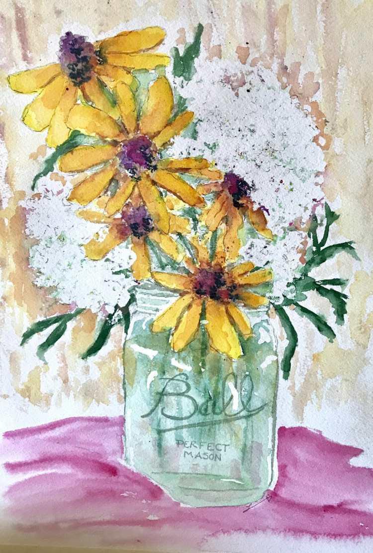 Mason jar bouquet 7A7E989C-B374-43F3-84EC-0A7A98E8600C