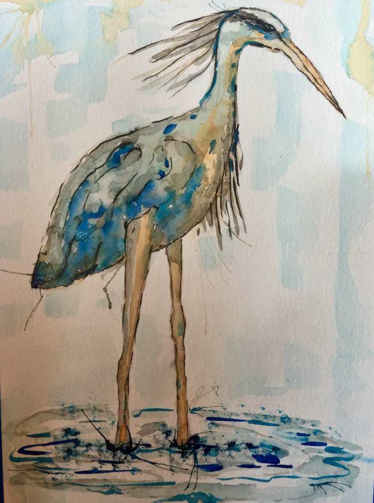 Blue Heron painted a year ago. F31E0C74-8FF3-4AA5-B464-CE23E9902C70