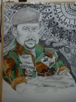 Mix media painting