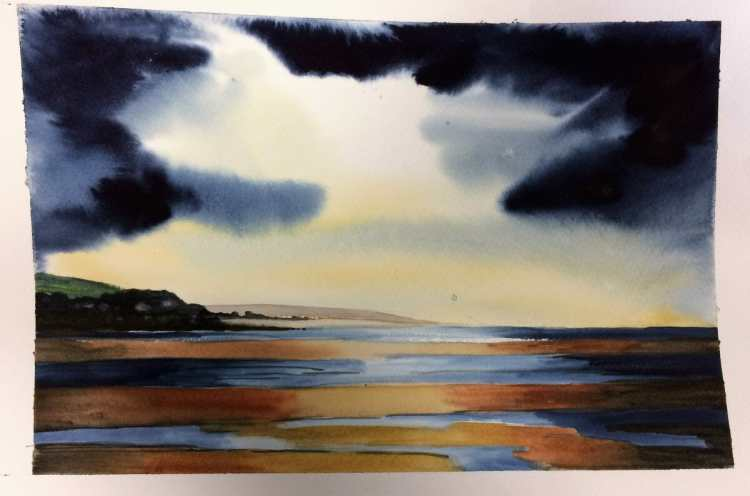 Continuing Daily Draws – these bring me up to date. I sliced the two wintery beach scenes into