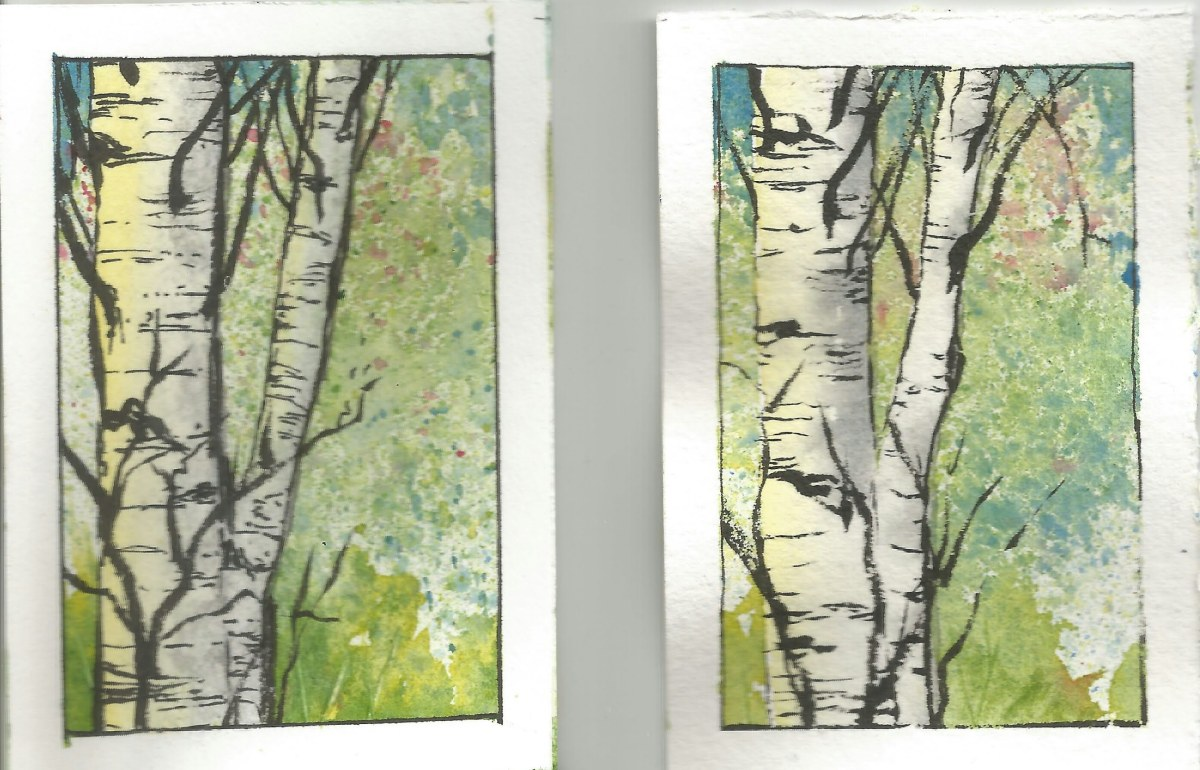 Strathmore 500 Mixed Media Heavyweight Paper vs Arches Comparison with watercolor