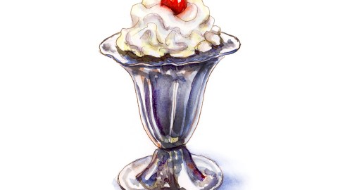 Day 18 - When LIfe Gets Rich_Sundae Cherry On Top - Watercolor Sketching