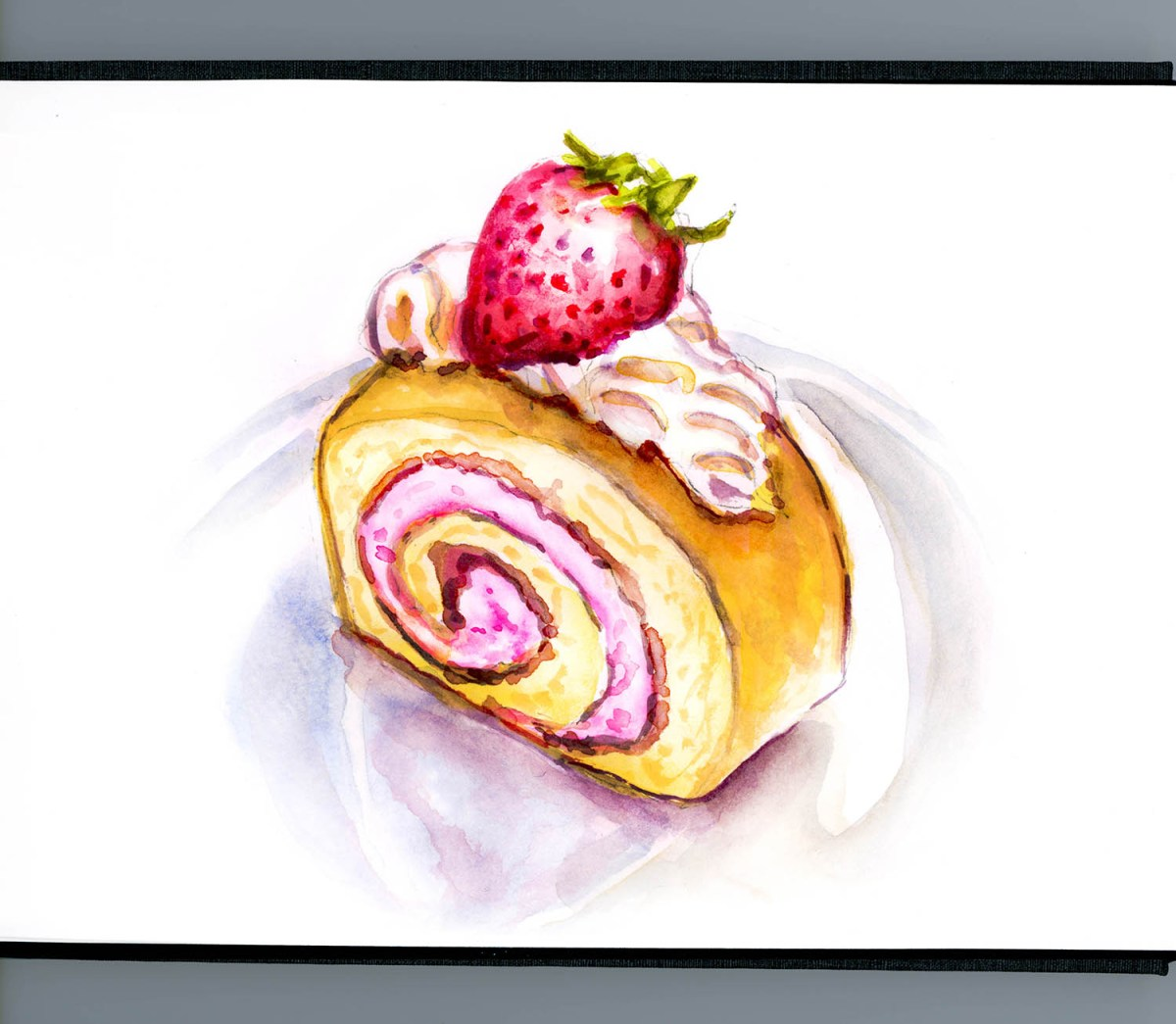 #WorldWatercolorGroup - Day 2 - Strawberry Shortcake Surprise - Doodlewash