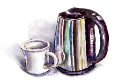Day 25 - A Bit Of Hot Water - Watercolor Sketch