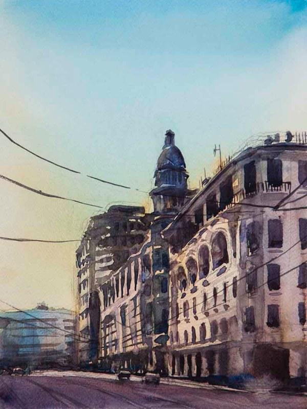 #WorldWatercolorGroup - Watercolor painting by Bakhtiyor Kadirov - Doodlewash