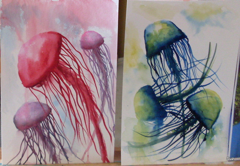 I saw a posting about Maria Raczynska's Dancing Jelly Fish and watched her video: https://www.