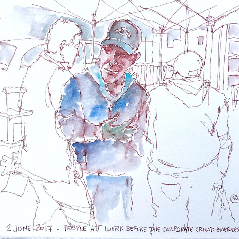 Watercolor Sketch by Mark Anderson - Doodlewash - Urban Sketchers KC