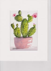 A simple painting to liven up my bathroom. Cactus