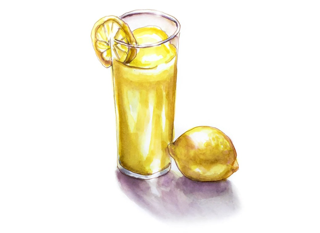 Day 20 - A Glass of Lemonade - #doodlewashApril2018 Doodlewash