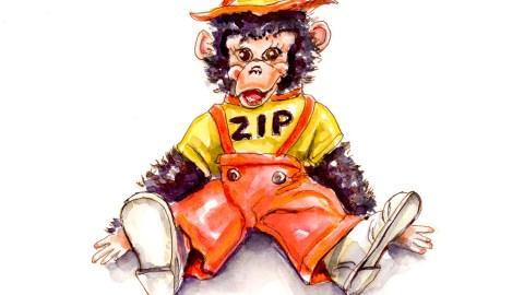 Day 29 - When My Best Friend Was A Monkey - Zip Moneky Doll #doodlewashApril2018 Doodlewash