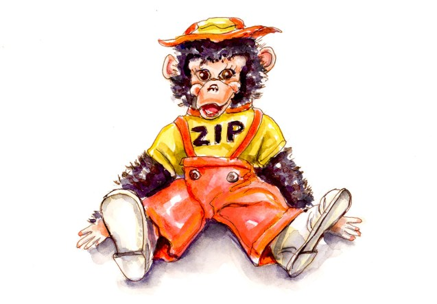 Day 29 - When My Best Friend Was A Monkey - Zip Moneky Doll #doodlewashApril2018 Doodlewash