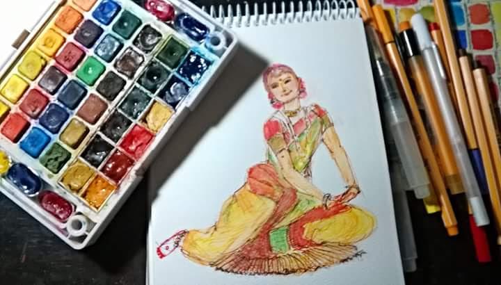 Watercolor Sketching by Deboshree - Doodlewash - #WorldWatercolorGroup