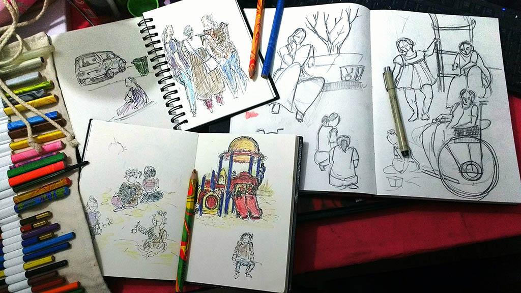Doodlewash - Drawings by Deboshree