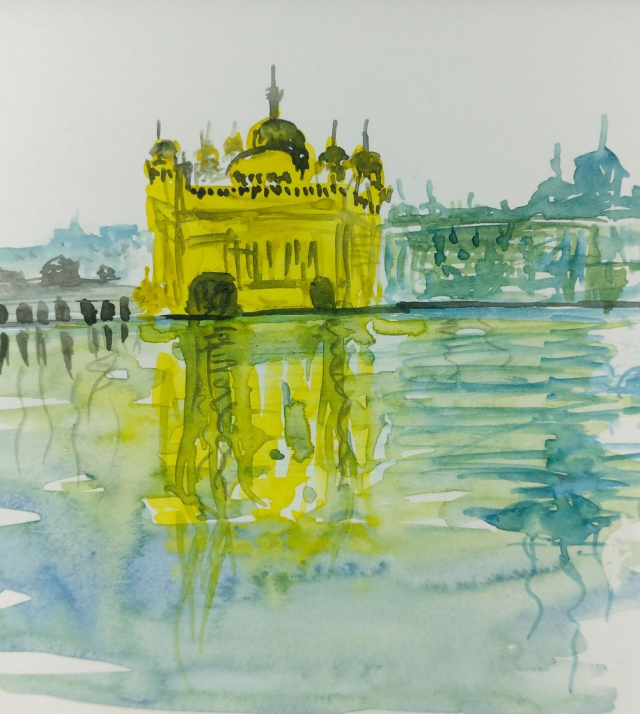 #One Minute WC Painting #Golden Temple, Punjab, India IMG_20180405_100551_01