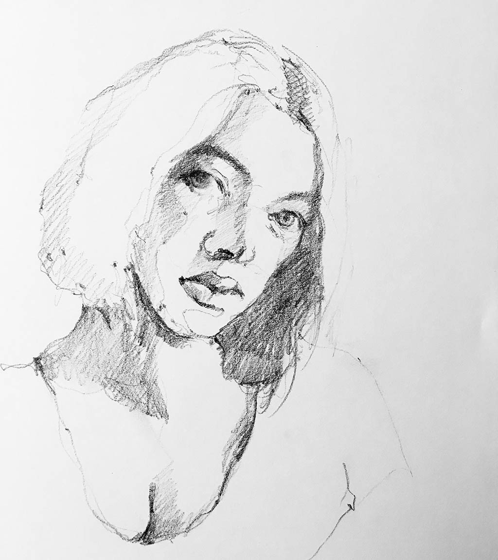 Contour Drawing by Valérie Mafrica - Doodlewash