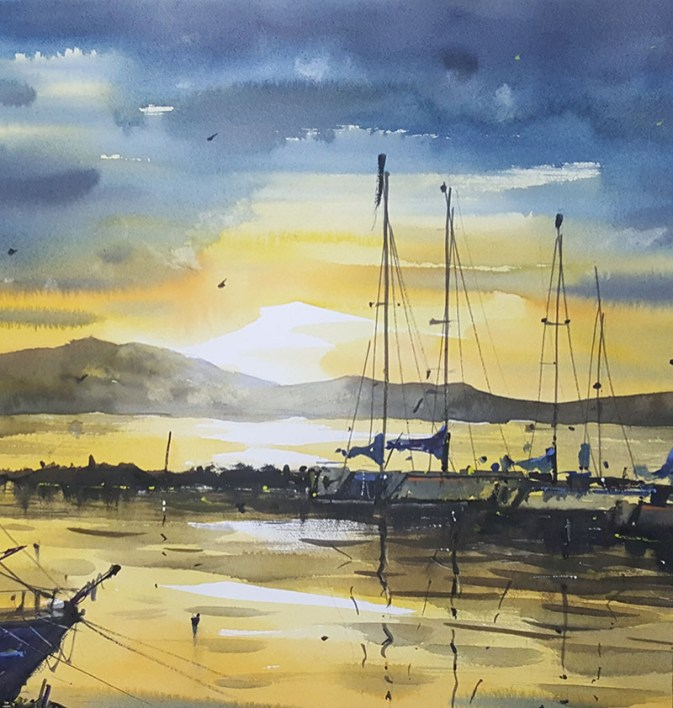 Watercolor Painting by Alexandros Pintilii Karciucas - #WorldWatercolorGroup Doodlewash