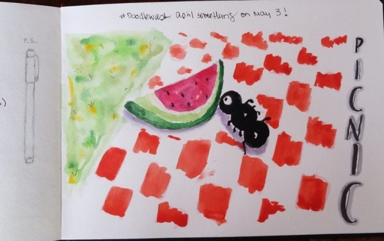 Thank you! I added a few final touches. How can anyone forget watermelon seeds? Moi! 20180504_100408