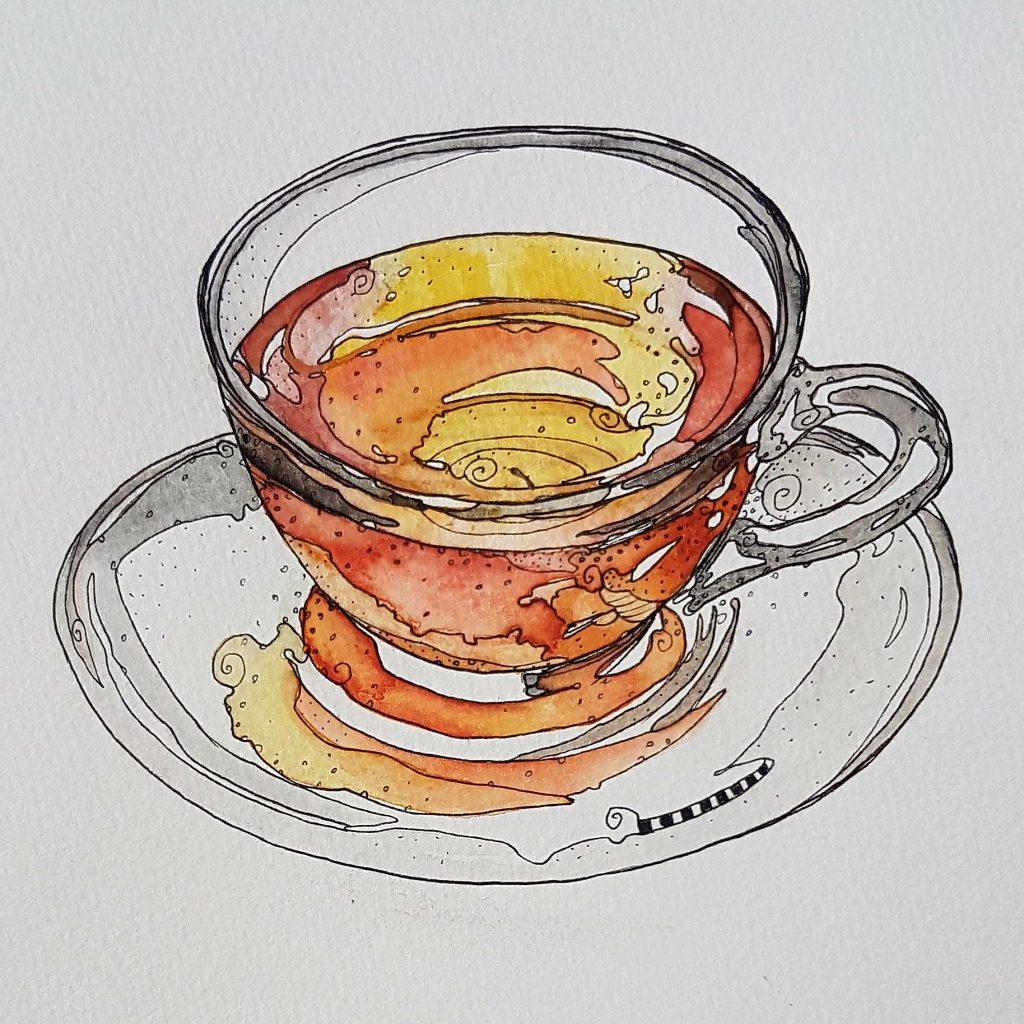 Day 6, art challenge: Tea 20180506_133656