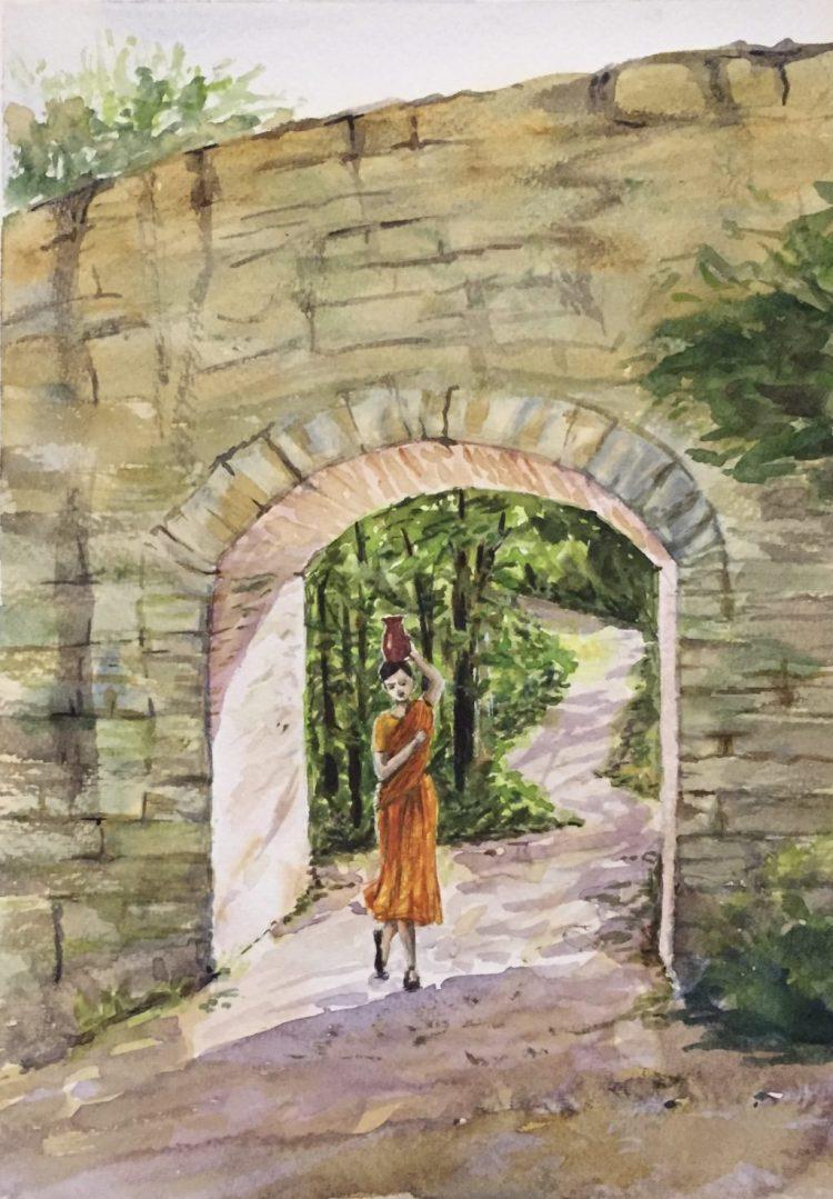 Sunny arch. Watercolor sketchbook Fabriano, 20x29cm. 26F8BDD0-7240-490A-B5A1-B1F7584A0775