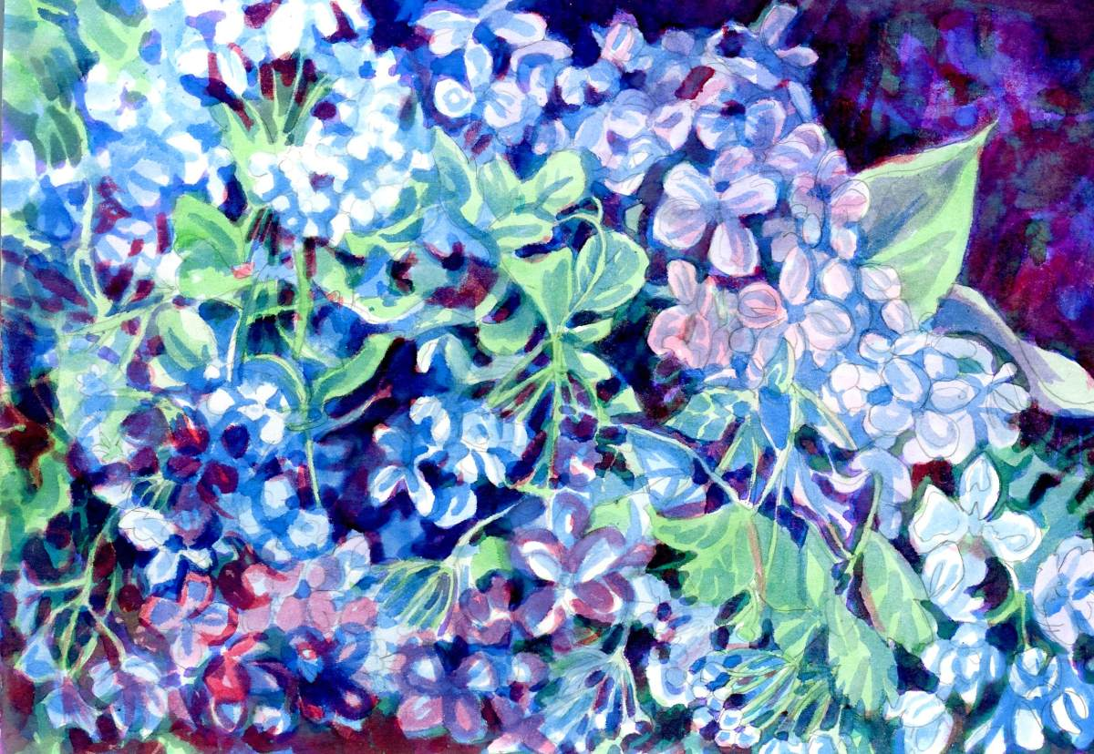 Brusho Crystal Colours - Painting by Sandra Strait