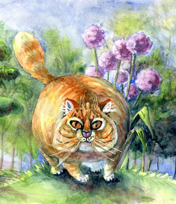 Cat – I had to cut this image down because I really messed up the tree on the left, lol. It ha