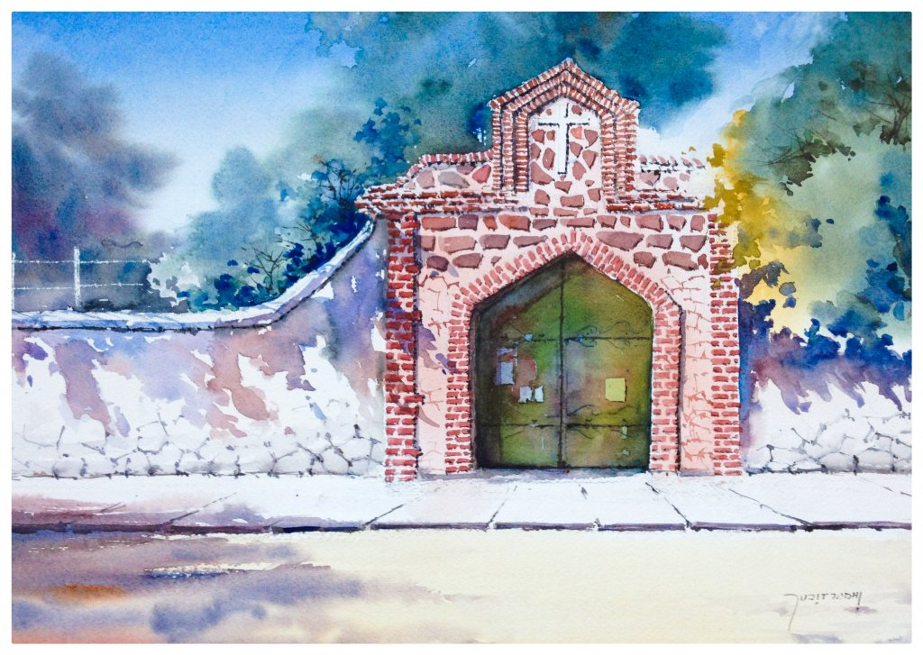 Watercolor Painting by Sujit Sudhi - Doodlewash #WorldWatercolorGroup