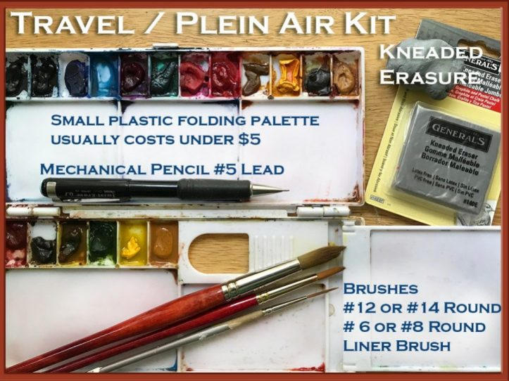 Plein Air Watercolor Painting Info - Patricia Lee Christensen - Doodlewash