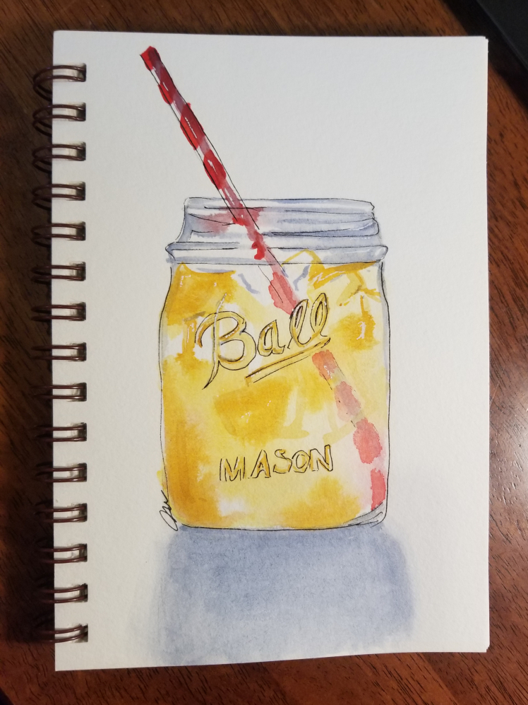 It's a very dark rainy day here but just as tradition when I was growing up, iced sweet tea is