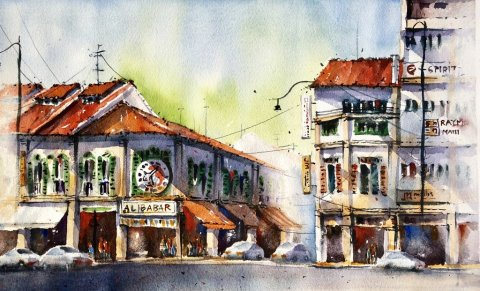 Watercolor Painting by Alfonso Paronda Jr - #WorldWatercolorGroup Doodlewash