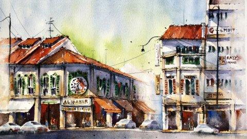 Watercolor Painting by Alfonso Paronda Jr - #WorldWatercolorGroup Doodlewash