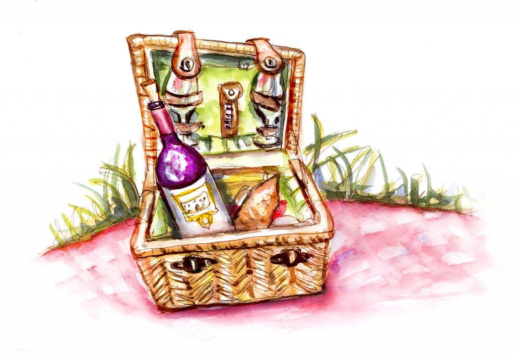 Day 18 - A Strange Little Picnic - #doodlewashJune2018 Doodlewash