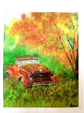 Found: Old Ford Pickup 11×14 Found Old Ford Truck