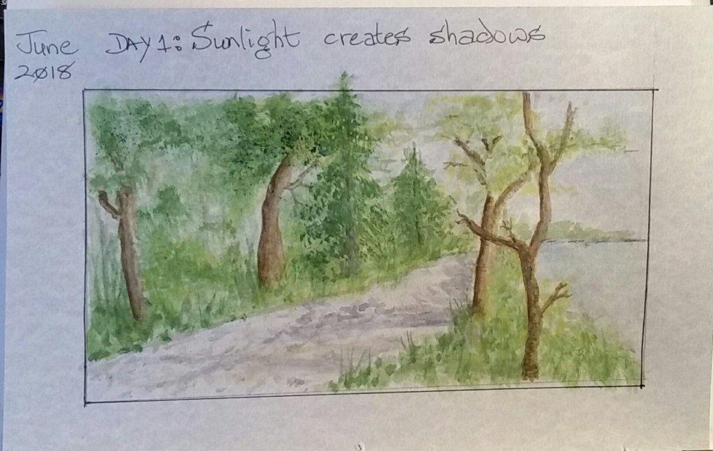 June Challenge Day 1 Sunshine #doodlewashJune2018 Day 1 #doodlewash Sunshine