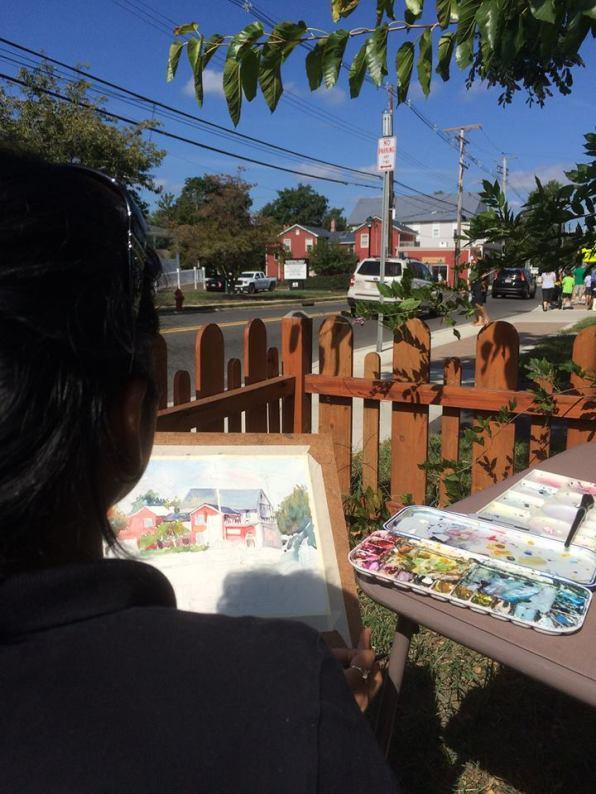 Watercolor Plein Air Painting by Hema Gupta - Doodlewash #WorldWatercolorGroup