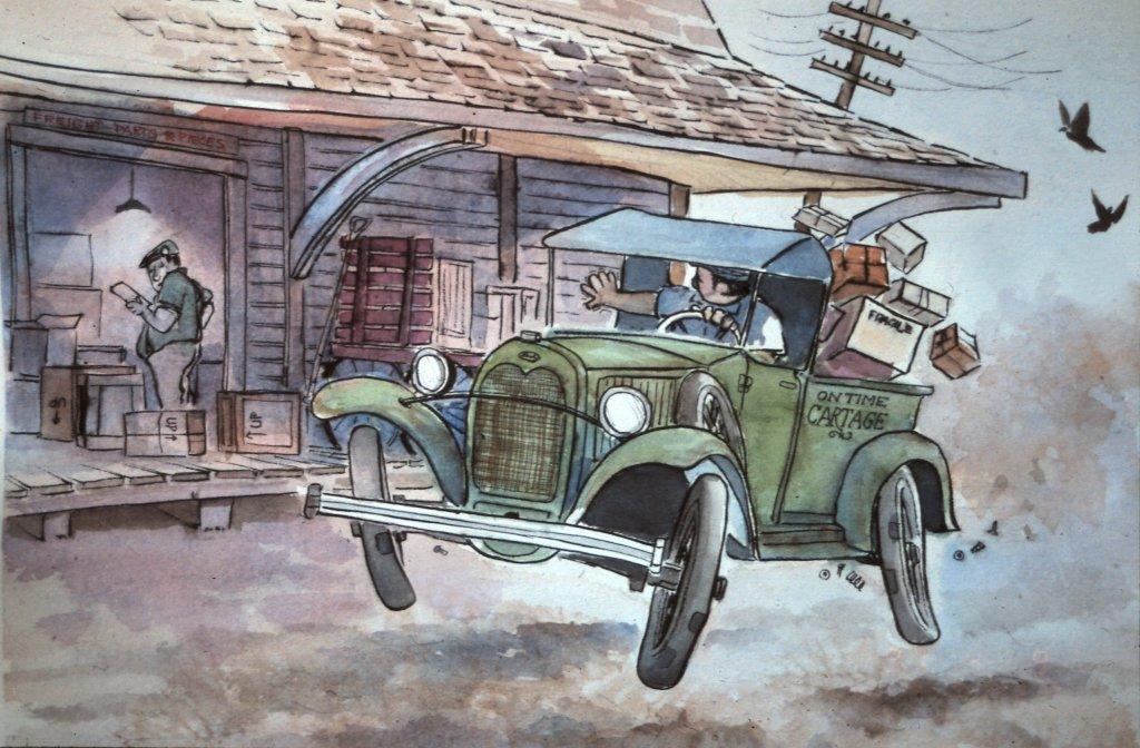 Watercolor Illustration by Gordon MacKenzie - Doodlewash #WorldWatercolorGroup #doodlewash