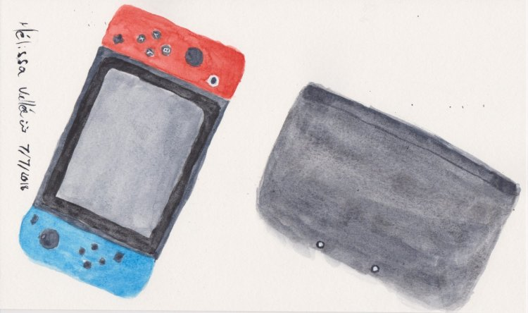 #WorldWatercolorMonth Day 7: Playing Games 009