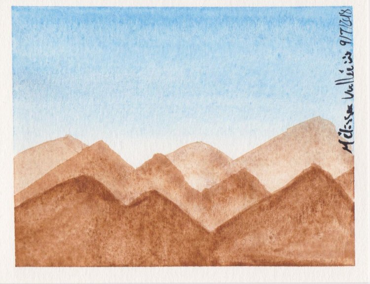 #WorldWatercolorMonth Day 9: Climbing Mountains 011