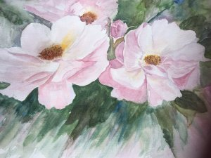 Had a day to paint during my holidays 2018-07-17 Two Rosa Roses