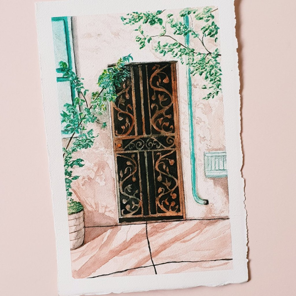 """Acceptance. Another doorway painting. A counterpart to \""""Realisation\"""" Paints: Winsor an"""