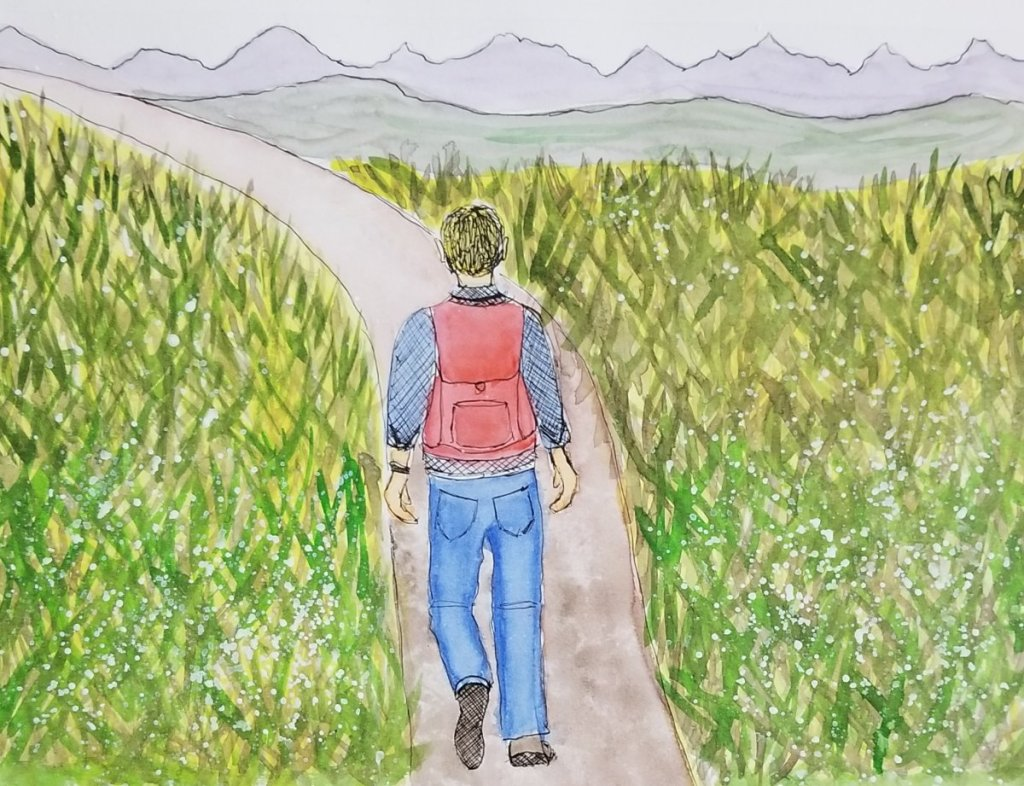 #WorldWatercolorMonth 2018 Prompt 28 Nature Hike 28 nature hike