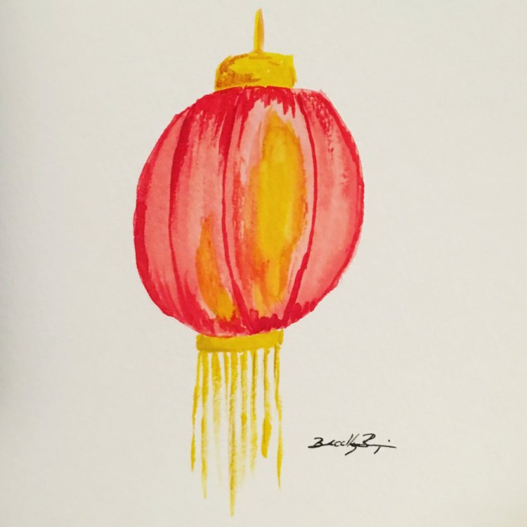 Day 10: Light & Luminous – Catch up continues with a paper Chinese lantern. #rivervalleyar