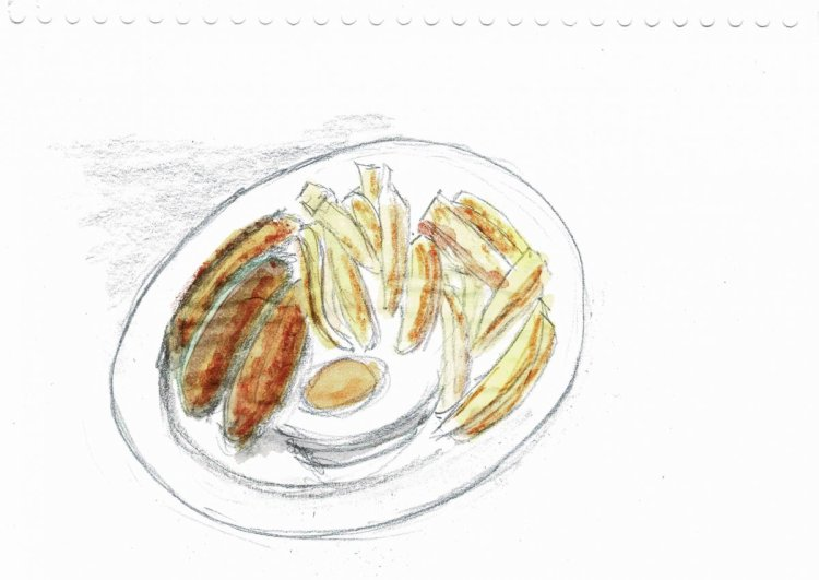 Second attempt. I am a little happier as the sausages look a little more realistic, can't get