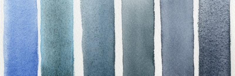 DANIEL SMITH Half Pans Watercolor Set 3 Blues - Serene to Dramatic - Doodlewash