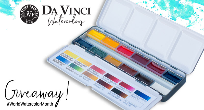 Da Vinci World Watercolor Month Week 2 Giveaway Graphic
